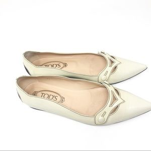 """TOD'S PATENT LEATHER FLATS 8.5"""""""